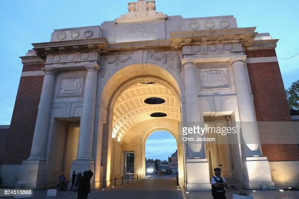 A general view of the Menin Gate where engraved inside are the names of 50000 lost soldiers at the Commonwealth War Graves Commission Ypres Memorial...