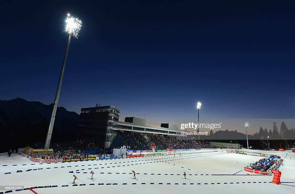 A general view of the Men's 20km Individual Event during the E. ON IBU Biathlon World Cup at the 'Laura' Biathlon & Ski Complex on March 7, 2013 in Sochi, Russia.