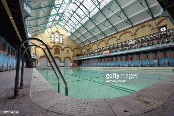 General view of the Men's First Class Pool at Victoria Baths which are opening today for the first time in over 20 years for a one off public...