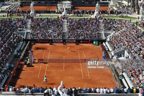 General view of the men's first round match between Nicolas Almagro of Spain and Alexandr Dolgopolov of Ukraine on court Pietrangeli on Day Two of...