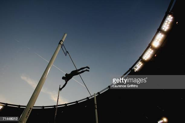 A general view of the Mens Pole Vault event during the IAAF Golden League Golden Gala meeting at the Olympic Stadium on July 14 2006 in Rome Italy