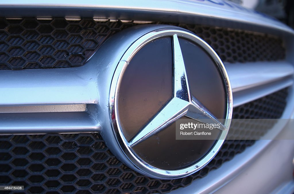 A general view of the Mercedes logo ahead of the V8 Supercars Clipsal 500 at Adelaide Street Circuit on February 26 2015 in Adelaide Australia