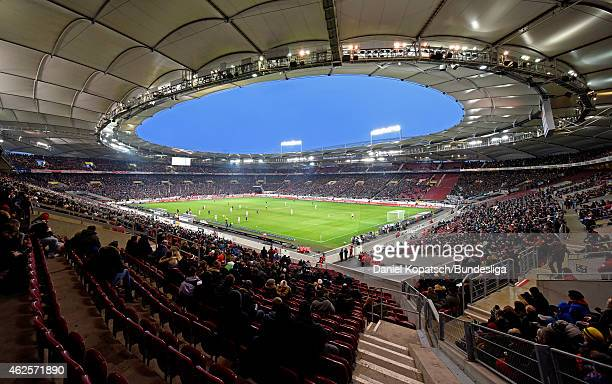 A general view of the MercedesBenz Arena during the Bundesliga match between VfB Stuttgart and Borussia Moenchengladbach at MercedesBenz Arena on...
