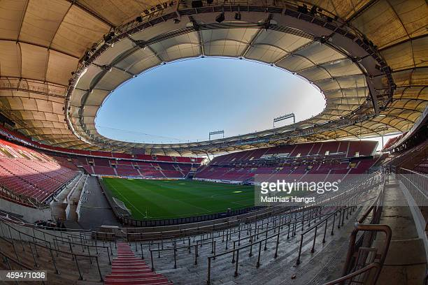 General view of the MercedesBenz Arena prior to the Bundesliga match between VfB Stuttgart and FC Augsburg at MercedesBenz Arena on November 23 2014...