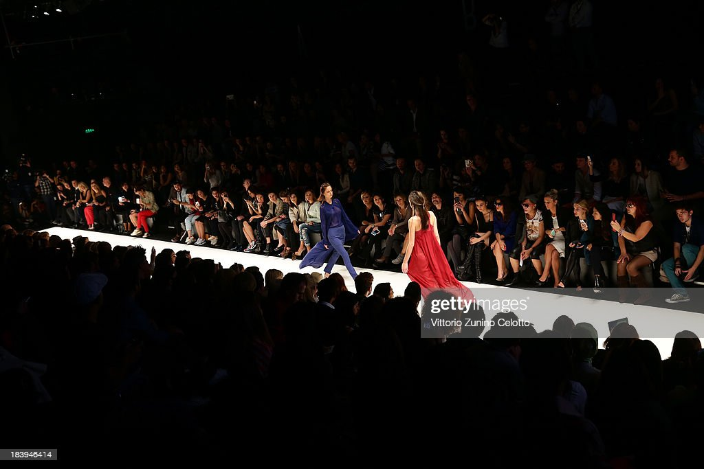 A general view of the Mercedes-Benz Fashion Week Istanbul s/s 2014 presented by American Express on October 10, 2013 in Istanbul, Turkey.