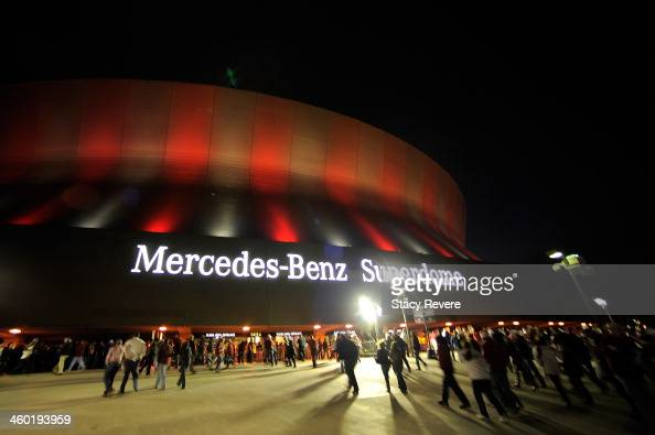 A general view of the MercedesBenz Superdome prior to Alabama Crimson Tide against the Oklahoma Sooners during the Allstate Sugar Bowl on January 2...