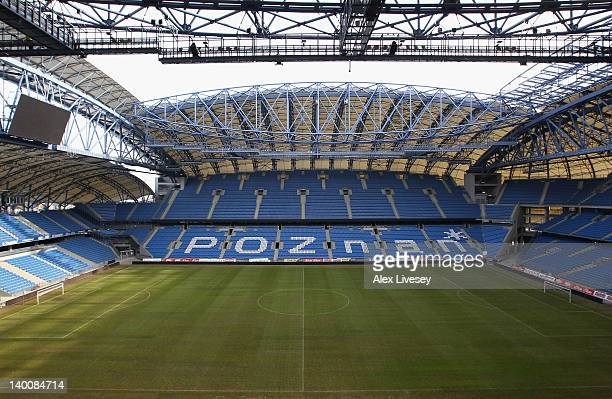 A general view of the Miejski Stadium the home ground of Lech Poznan is seen on February 27 2012 in Poznan Poland