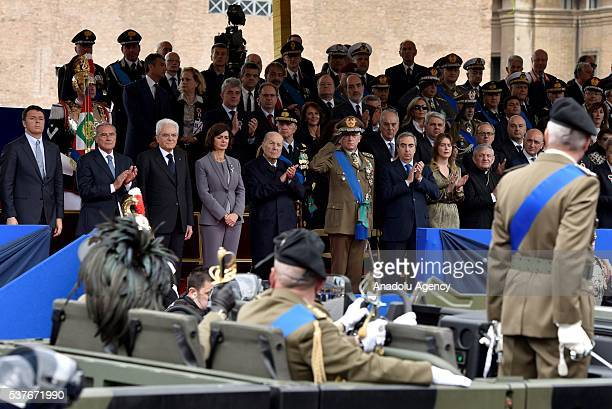 General view of the military parade during the celebrations of the Italian Republic Day in Rome Italy 02 June 2016