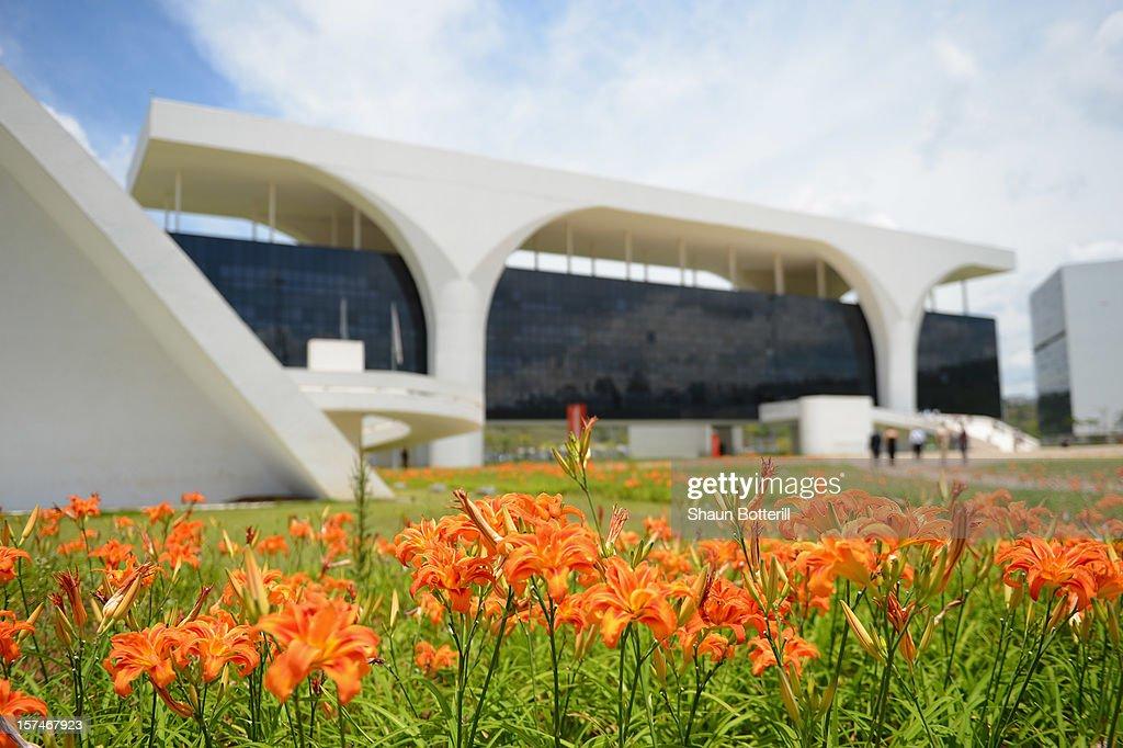 A general view of the Minas Gerais Government buildings Palacio da Liberdade on December 3 2012 in Belo Horizonte Brazil