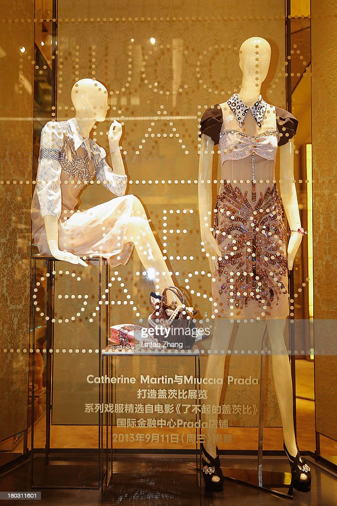 A general view of the Miuccia Prada and Catherine Martin Dress Gatsby exhibition in Miu Miu store on September 10, 2013 in Shanghai, China.