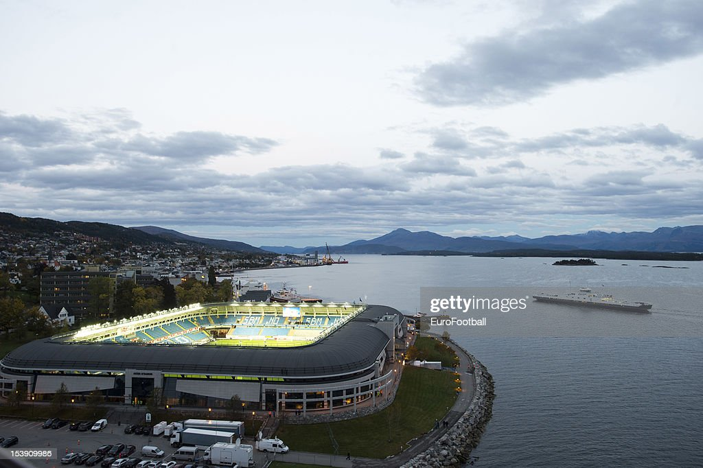 General view of the Molde Stadion home of Molde FK taken during the UEFA Europa League group stage match between Molde FK and VfB Stuttgart held on...