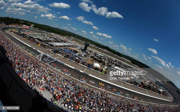 A general view of the Monster Energy NASCAR Cup Series Overton's 301 at New Hampshire Motor Speedway on July 16 2017 in Loudon New Hampshire