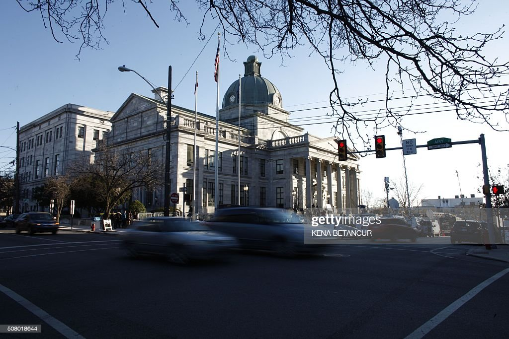 A general view of the Montgomery County courthouse where Pretrial hearings are being held for Comedian Bill Cosby in the sexual assault case against...