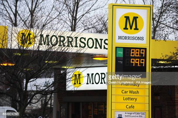 A general view of the Morrisons filling station forecourt in Whitley Bay North Tyneside