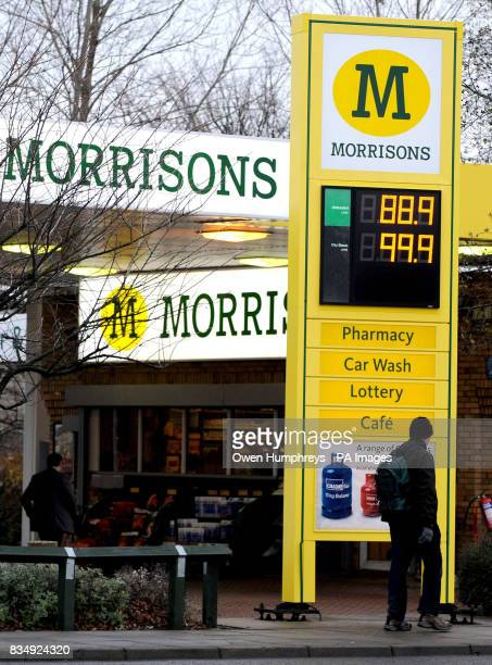 A general view of the Morrison's filling station forecourt in Whitley Bay North Tyneside