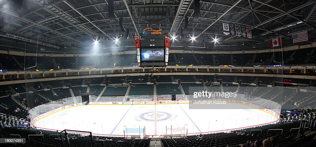 General view of the MTS Centre is shown before a game against the Pittsburgh Penguins and the Winnipeg Jets on January 25, 2013 in Winnipeg, Manitoba, Canada