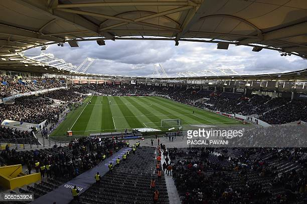 General view of the Municipal stadium taken ahead of the French L1 football match Toulouse vs Paris SaintGermain on January 16 2016 at the Municipal...