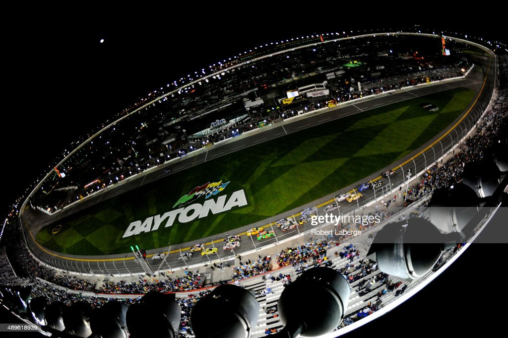 A general view of the NASCAR Sprint Cup Series Sprint Unlimited at Daytona International Speedway on February 15 2014 in Daytona Beach Florida