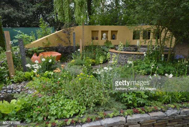 A general view of the National Botanic Garden of Wales Get Well Soon Garden during the RHS Chelsea Flower Show London