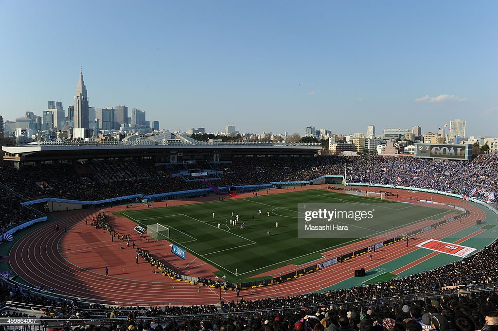 General view of the National Stadium during the 93rd Emperor's Cup final between Yokohama F.Marinos and Sanfrecce Hiroshima at the National Stadium on January 1, 2014 in Tokyo, Japan.