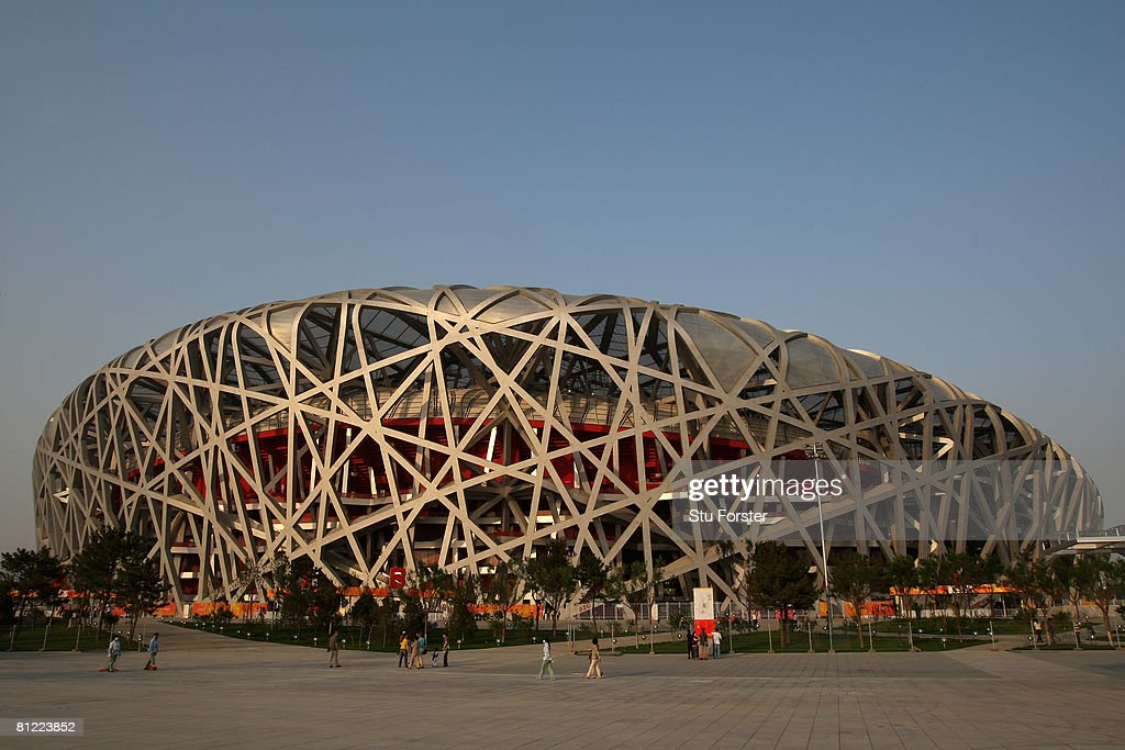 A general view of the National Stadium known as the 'Birds Nest' during day three of the Good Luck Beijing 2008 China Athletics Open at National...