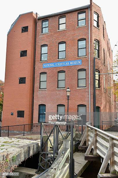 A general view of The National Streetcar Museum in the former textile manufacturing town of Lowell on the Merrimack River as part of the Lowell...