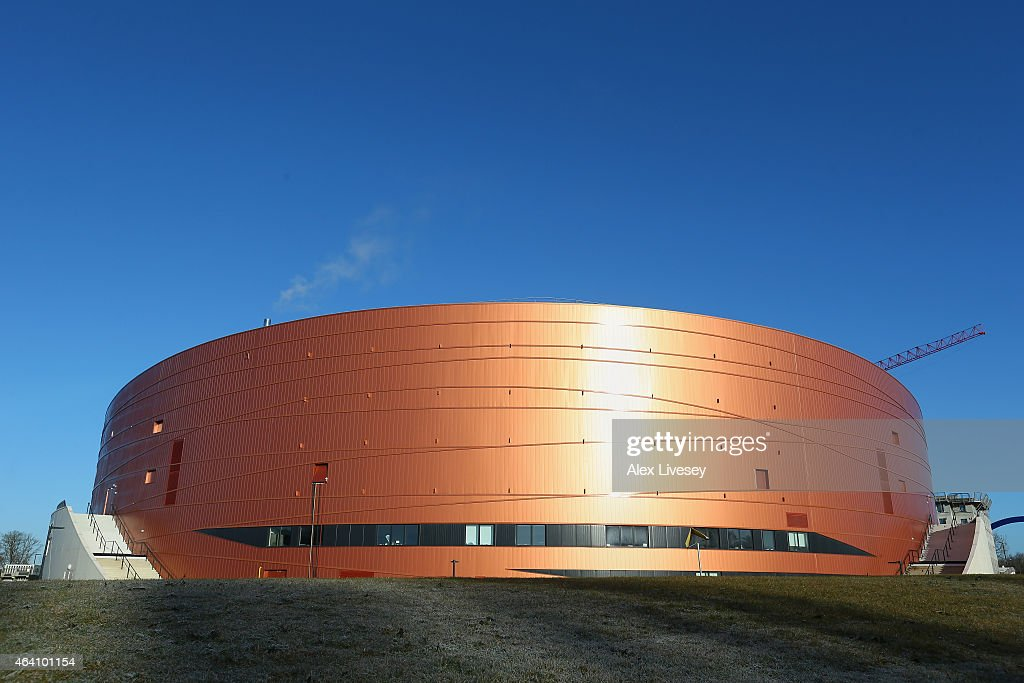 A general view of The National Velodrome in SaintQuentin EnYvelines is seen prior to Day Five of the UCI Track Cycling World Championships at the...