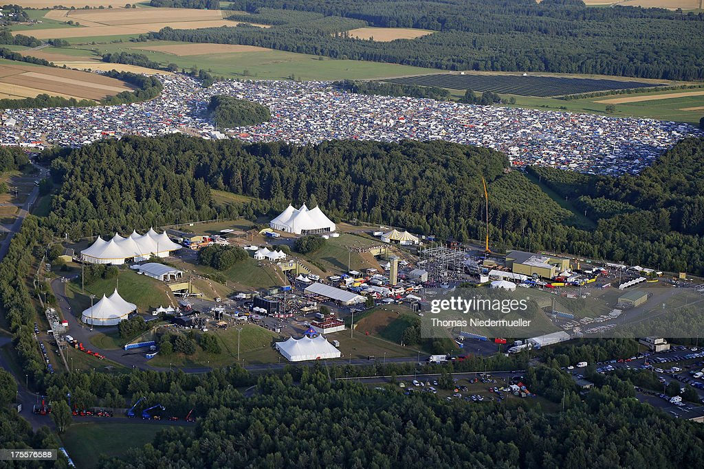 General view of the 'Nature One' massive rave, held at the former US rocket base Pydna on August 3, 2013 in Kastellaun, Germany.