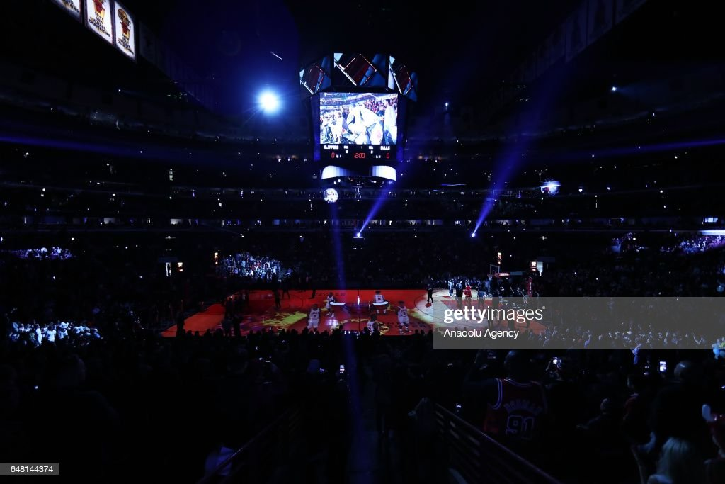 General view of the NBA match between Chicago Bulls and Los Angeles Clippers at the United Center in Chicago, Illinois, United States on March 05, 2017.