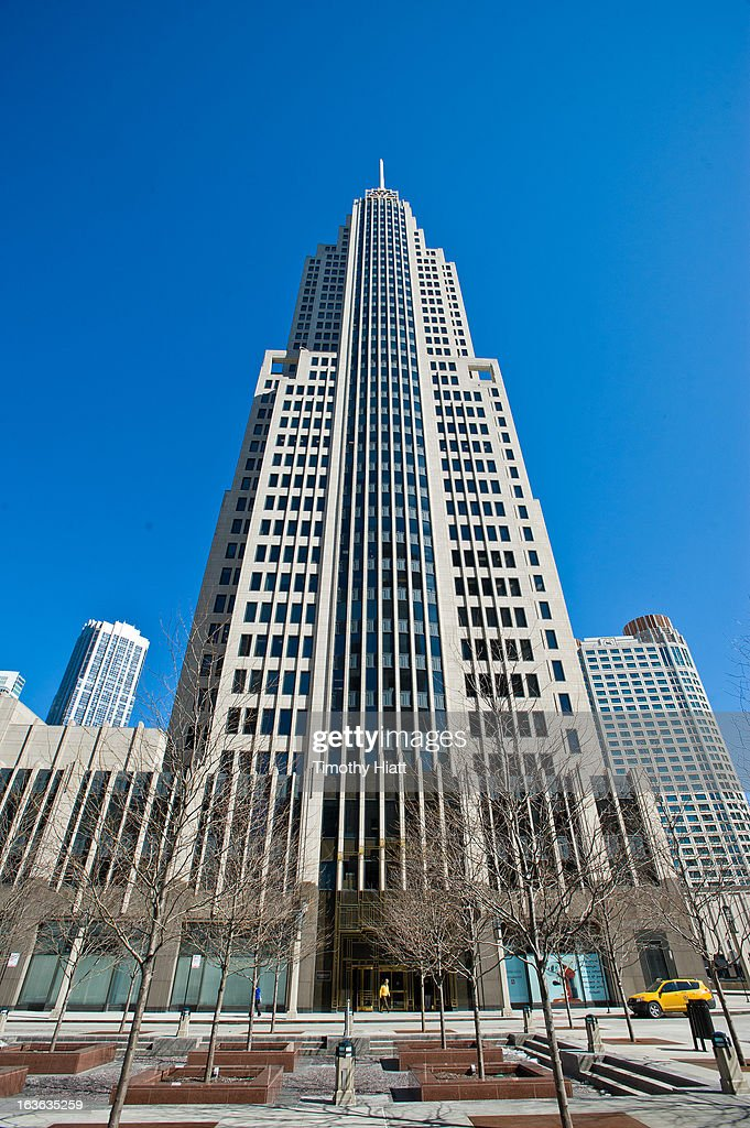 A general view of the NBC Tower on March 13, 2013 in Chicago, IL.