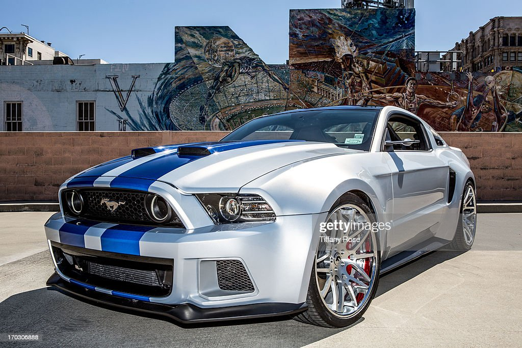 A general view of the 'Need For Speed' Ford Mustang Hero Car on June 10, 2013 in Los Angeles, California.