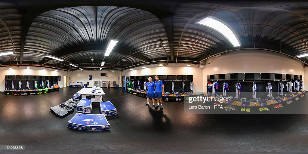 A general view of the Netherlands dressing room before the 2014 FIFA World Cup Brazil Play-off for third place match between Brazil v Netherlands at Estadio Nacional on July 12, 2014 in Brasilia, Brazil.
