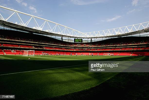 A general view of the new Arsenal Emirates Stadium during an Arsenal Training and Emirates Stadium Open Day at the Emirates Stadium on July 20 in...