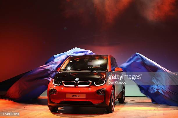 A general view of the new BMW i3 after it's launch at Old Billingsgate Market on July 29 2013 in London England The vehicle was launched as one of...