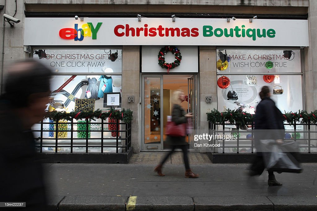 A general view of the new Ebay store on December 1, 2011 in central London, England. Ebay have launched the first ever quick response code shopping emporium allowing customers to browse in store and then order online using mobile phones and tablets inside the boutique whilst it is open for the next five days.