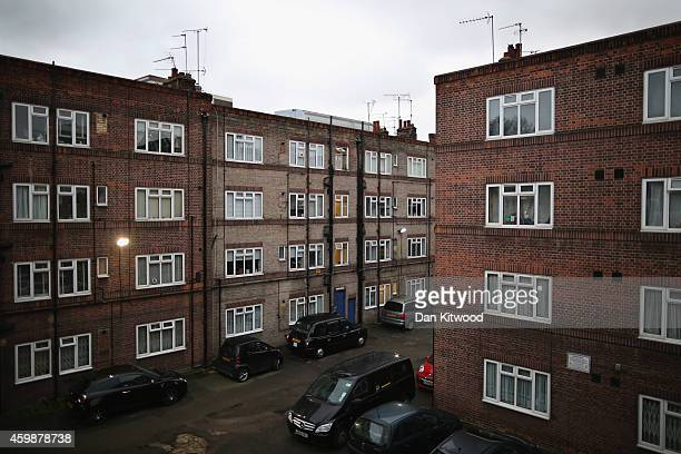 A general view of the New Era housing estate in East London on December 2 2014 in London England On Monday many of the residents marched in central...