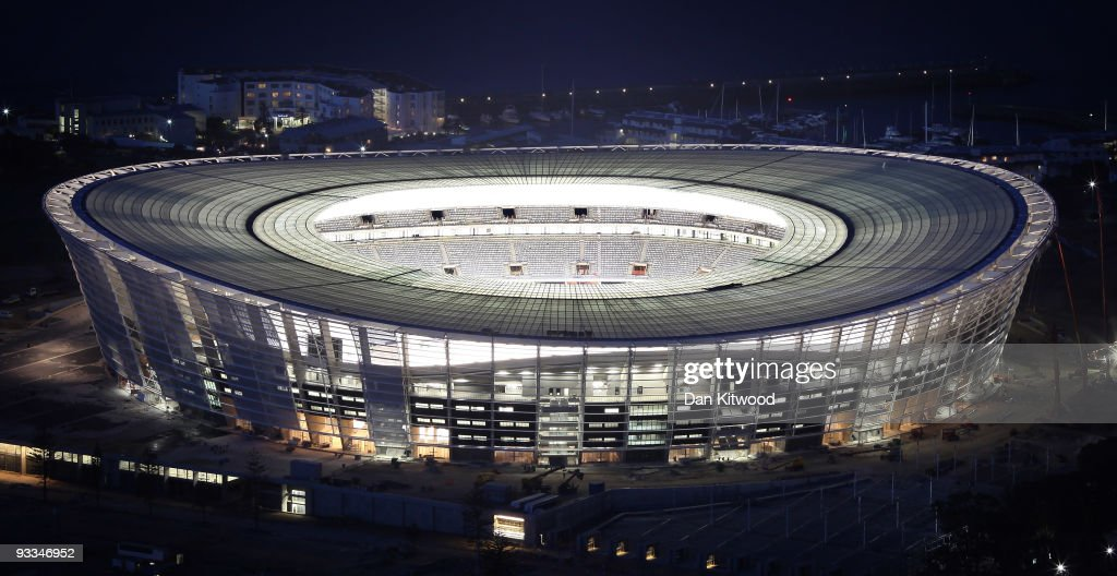 A general view of the new Green Point Football Stadium ahead of the 2010 FIFA world Cup on October 22 2009 in Cape Town South Africa