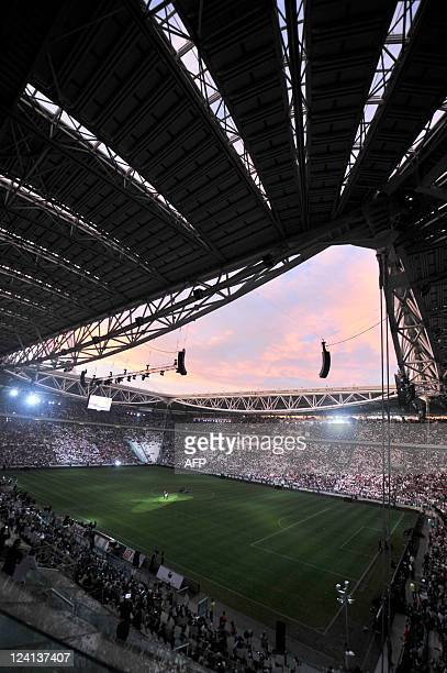 A general view of the new Juventus football Stadium in Turin on September 8 2011 The new stadium has a capacity of 41000 spectators It is built on...