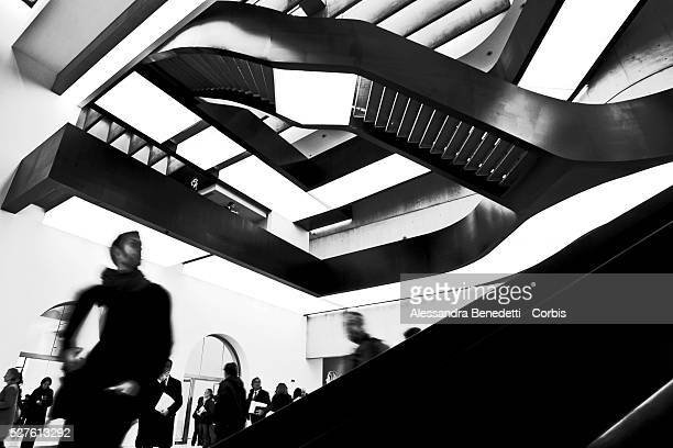 A general view of the new MAXXI MUSEUM OF XXI CENTURY ARTS in Rome The Museum designed by angloiraki architect Zaha Hadid will not be a place where...