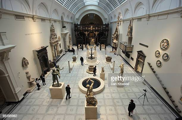 A general view of the new Medieval and Renaissance exhibition at the VA museum on November 30 2009 in London England The new exhibition houses one of...