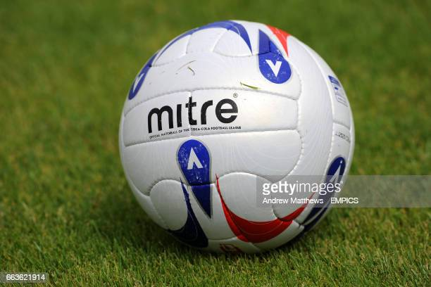 General view of the new Mitre official matchball of the CocaCola Football League