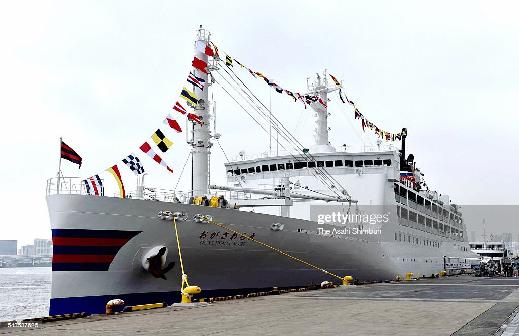 A general view of the new 'Ogasawara-Maru' ferry during the press preview on June 29, 2016 in Tokyo, Japan. The ferry, connecting Chichijima Island and Tokyo's Takeshiba Pier, will be replaced to new ship on July 2.