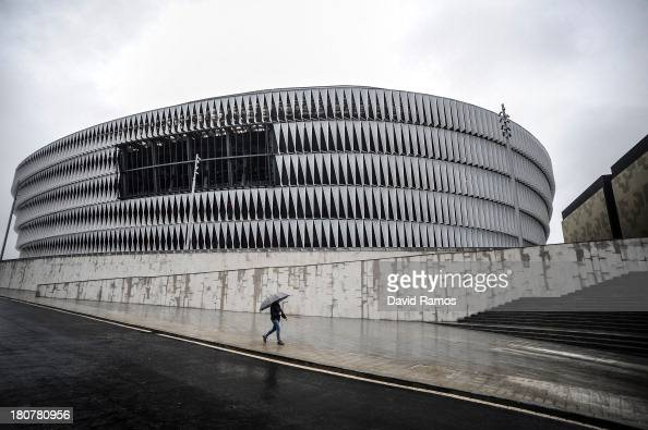 A general view of the new San Mames Stadium on September 16 2013 in Bilbao Spain