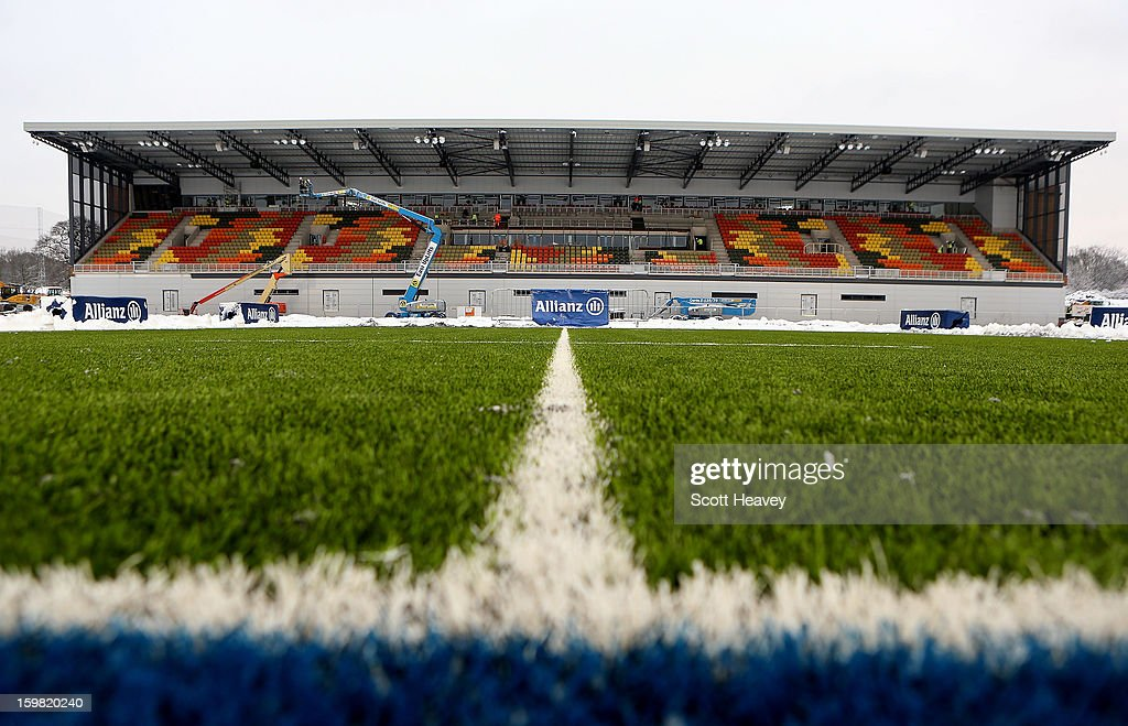 A general view of the new synthetic pictch during a Saracens media day at Allianz Park on January 21, 2013 in Barnet, England.