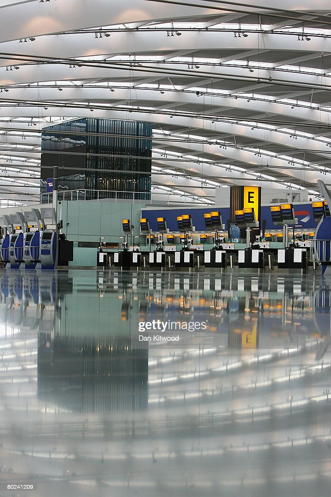 A general view of the new Terminal 5 at Heathrow before it's official opening on March 14, 2008 in London, England. Terminal 5 will be open to the public on March 27, 2008.