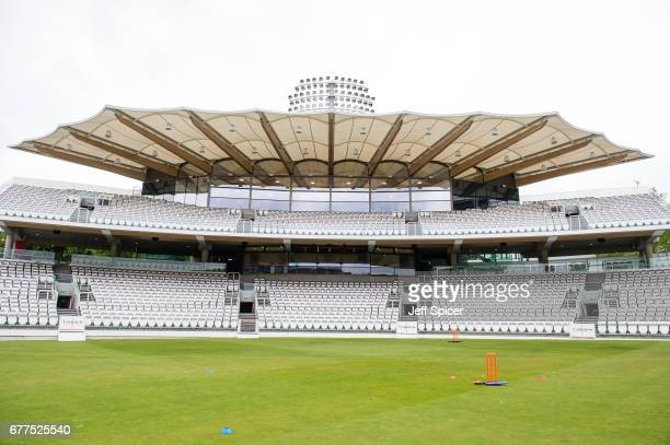 A general view of the new Warner Stand opened by Prince Philip Duke of Edinburgh at Lord's Cricket Ground on May 3 2017 in London England The Duke of...
