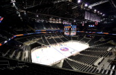 A general view of the New York Islanders hockey rink at the Barclays Center on September 12 2013 in the Brooklyn borough of New York City