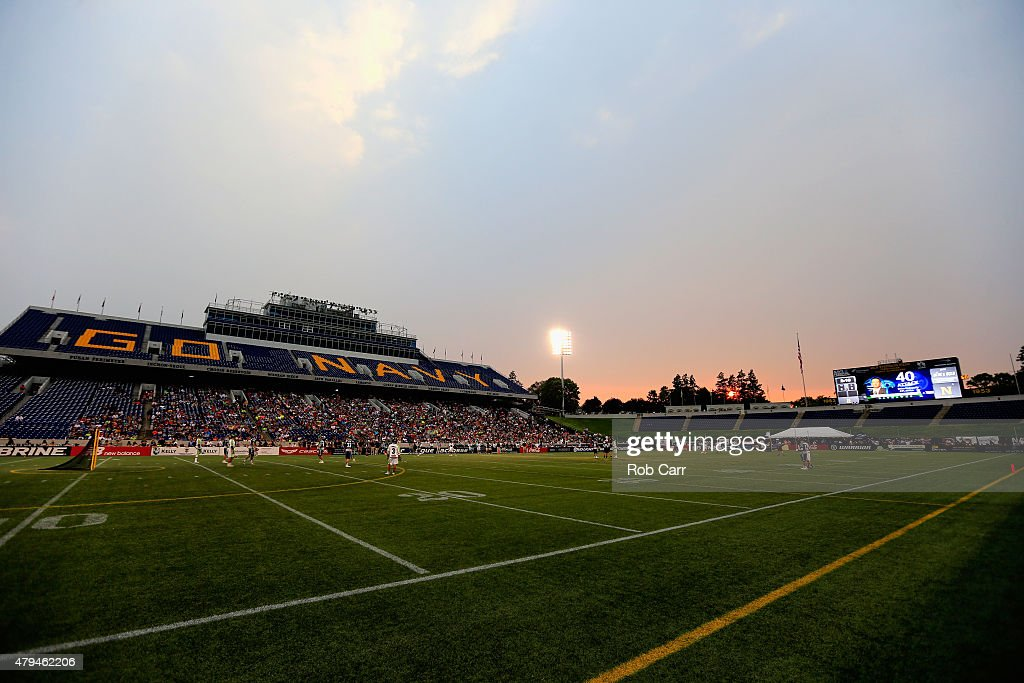 A general view of the New York Lizards of the Chesapeake Bayhawks game at NavyMarine Corps Memorial Stadium on July 2 2015 in Annapolis Maryland