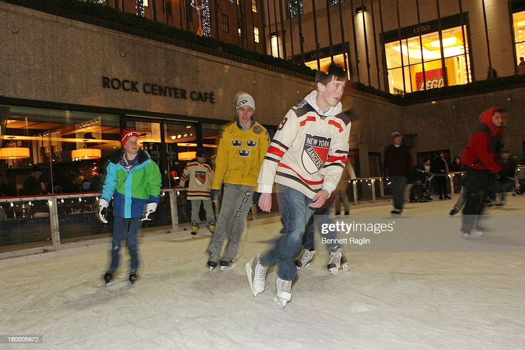 A general view of The New York Rangers 19th Annual 'Skate With The Greats' Event Benefiting The Ronald McDonald House New York at The Rink at Rockefeller Center on February 1, 2013 in New York City.
