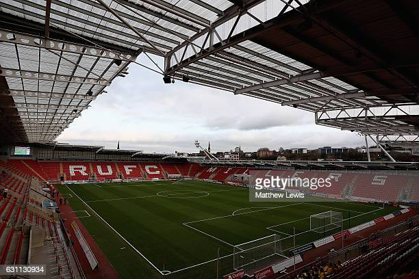 A general view of the New York Stadium ahead of The Emirates FA Cup Third Round match between Rotherham United and Oxford United at The New York...